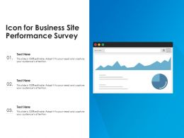 Icon For Business Site Performance Survey