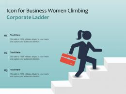 Icon For Business Women Climbing Corporate Ladder