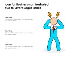 Icon For Businessman Frustrated Due To Overbudget Issues