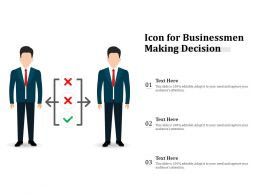 Icon For Businessmen Making Decision