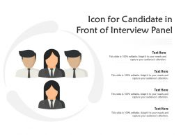 Icon For Candidate In Front Of Interview Panel