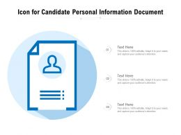 Icon For Candidate Personal Information Document