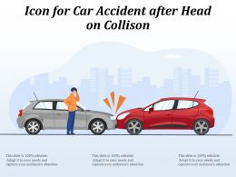 Icon For Car Accident After Head On Collison
