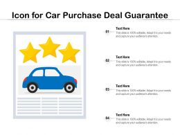Icon For Car Purchase Deal Guarantee