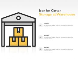 Icon For Carton Storage At Warehouse