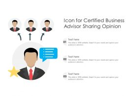 Icon For Certified Business Advisor Sharing Opinion