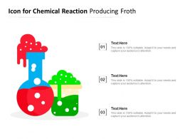 Icon For Chemical Reaction Producing Froth