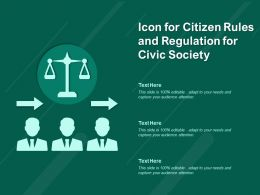 Icon For Citizen Rules And Regulation For Civic Society