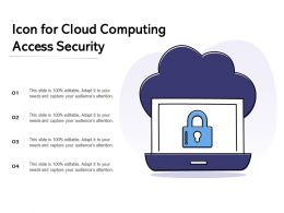 Icon For Cloud Computing Access Security