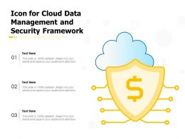 Icon For Cloud Data Management And Security Framework