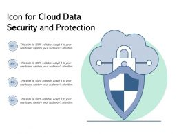 Icon For Cloud Data Security And Protection
