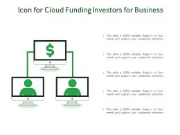 Icon For Cloud Funding Investors For Business