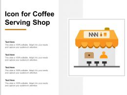 Icon For Coffee Serving Shop