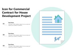 Icon For Commercial Contract For House Development Project