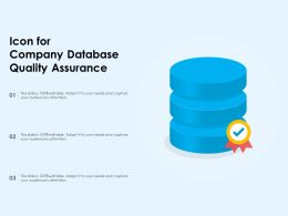 Icon For Company Database Quality Assurance