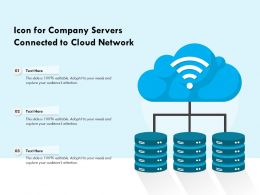 Icon For Company Servers Connected To Cloud Network