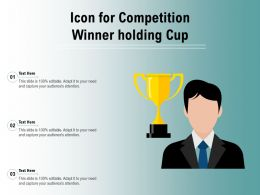 Icon For Competition Winner Holding Cup