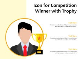 Icon For Competition Winner With Trophy