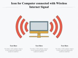 Icon For Computer Connected With Wireless Internet Signal