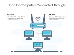Icon For Computers Connected Through