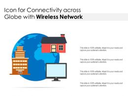 Icon For Connectivity Across Globe With Wireless Network