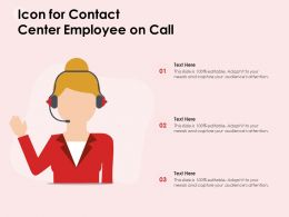 Icon For Contact Center Employee On Call