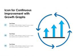 Icon For Continuous Improvement With Growth Graphs