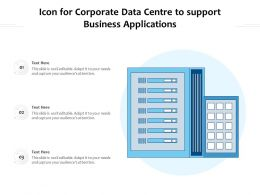 Icon For Corporate Data Centre To Support Business Applications