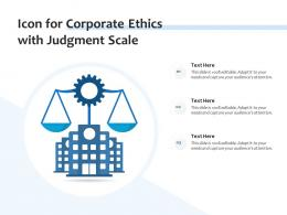 Icon For Corporate Ethics With Judgment Scale