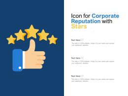 Icon For Corporate Reputation With Stars