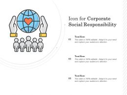 Icon For Corporate Social Responsibility