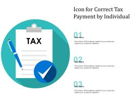 Icon For Correct Tax Payment By Individual