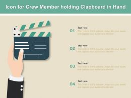 Icon For Crew Member Holding Clapboard In Hand