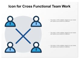 Icon For Cross Functional Team Work