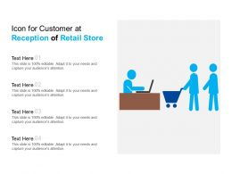 Icon For Customer At Reception Of Retail Store