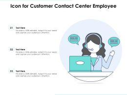 Icon For Customer Contact Center Employee