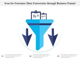 Icon For Customer Data Conversion Through Business Funnel