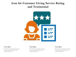 Icon For Customer Giving Service Rating And Testimonial