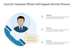 Icon For Customer Phone Call Support Service Process