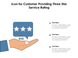 Icon For Customer Providing Three Star Service Rating