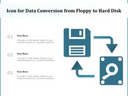 Icon For Data Conversion From Floppy To Hard Disk