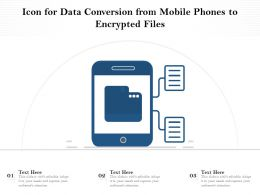 Icon For Data Conversion From Mobile Phones To Encrypted Files