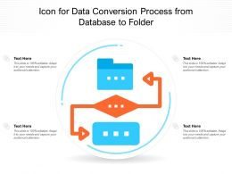 Icon For Data Conversion Process From Database To Folder