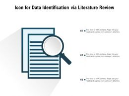 Icon For Data Identification Via Literature Review