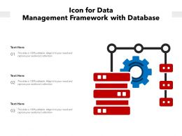 Icon For Data Management Framework With Database