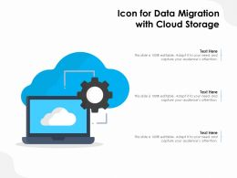 Icon For Data Migration With Cloud Storage