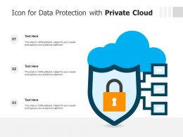Icon For Data Protection With Private Cloud