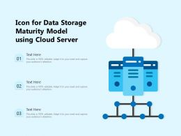 Icon For Data Storage Maturity Model Using Cloud Server