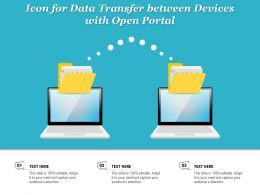 Icon For Data Transfer Between Devices With Open Portal