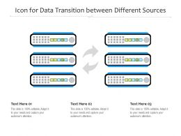 Icon For Data Transition Between Different Sources